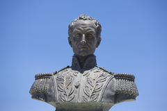 Simon bolivar sculpture against blue sky Royalty Free Stock Photography