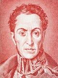 Simon Bolivar stående royaltyfria bilder