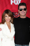 Simon Cowell, Paula Abdul Stock Photography
