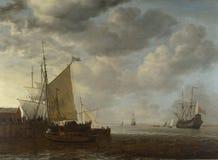 Simon de Vlieger - una vista de un estuario imágenes de archivo libres de regalías