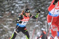 Simon Desthieux - biathlon Royalty Free Stock Photos