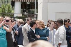 Simon Fuller Hollywood Walk of Fame Star Ceremony Royalty Free Stock Photo