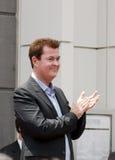 Simon Fuller Hollywood Walk van de Ceremonie van de Ster van de Bekendheid Royalty-vrije Stock Afbeelding