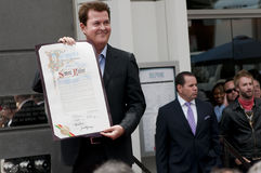 Simon Fuller Hollywood Walk van de Ceremonie van de Ster van de Bekendheid Royalty-vrije Stock Afbeeldingen