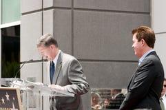 Simon Fuller Hollywood Walk van de Ceremonie van de Ster van de Bekendheid Stock Fotografie