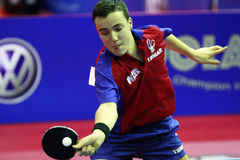 Simon Gauzy. ( France ) , world champion  during the world junior table tennis championships in cartagena de indios Royalty Free Stock Images