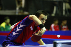 Simon Gauzy. ( France ) , world champion  during the world junior table tennis championships in cartagena de indios Stock Images
