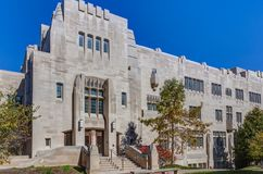 Simon Hall of the University of Indiana. BLOOMINGTON, IN/USA - OCTOBER 22, 2017: Simon Hall on the campus of the University of Indiana Royalty Free Stock Image