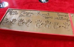 Simon Helberg, Kunal Nayyar, Mayim Bialik, Melissa Rauch. Simon Helberg, Kunal Nayyar, Mayim Bialik and Melissa Rauch at the handprints ceremony for `The Big royalty free stock photo