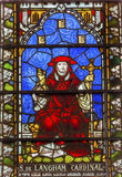 Simon Langham Stained Glass Westminster cardinal Abbey London England Fotos de archivo