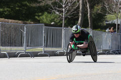 Simon Lawson races in the Boston Marathon on April 17, 2017 Stock Images