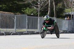 Simon Lawson races in the Boston Marathon on April 17, 2017. BOSTON - APRIL 17 : Simon Lawson races in the Boston Marathon on April 17, 2017 Stock Images
