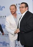 Simon Pegg & Nick Frost royaltyfri foto