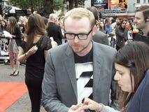 Simon Pegg am Scott-Pilgerer gegen die Welt lizenzfreies stockbild