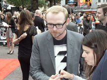 Simon Pegg At Scott Pilgrim Vs The World Royalty Free Stock Image