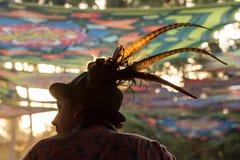 Simon Posford, der auf dem Stadium von HillTribe-Verein in Goa, Indien spielt Stockbilder