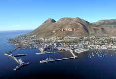 Simon's Town. Aerial view of Simon's Town on a clear summers day in Cape Town, South Africa Stock Photo