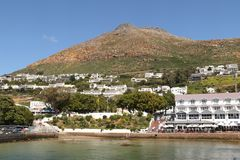 Simon`s Town looking towards Langeberg royalty free stock images