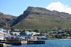 Simon`s Town, Cape Peninsula, South Africa. Simon`s Town is a town near Cape Town, which is home to the South African Navy. It is located on the shores of False royalty free stock photos