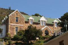 Simon`s Town Methodist Church. This building, formerly called the Wesleyan Chapel, is the Methodist Church building in South Africa with the longest continuous royalty free stock photo