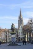 Simon Stevin-standbeeld in Brugge Royalty-vrije Stock Foto