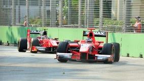 Simon Trummer участвуя в гонке в Сингапур GP2 Стоковая Фотография RF
