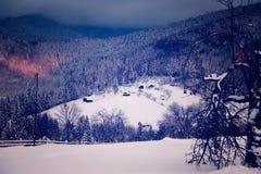 Simon village. One beautiful village in romania, like Heidi valley royalty free stock photo