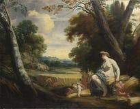 Simon Vouet y estudio - Ceres y cosechando cupidos imagen de archivo