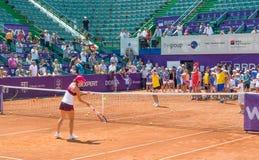 Simona Halep ΟΔΓ ΑΝΟΙΚΤΌ WTA στοκ φωτογραφία