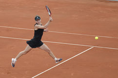 Simona Halep in action Royalty Free Stock Photo
