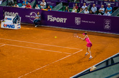 Simona Halep in Bucharest Open Tennis Tournament Stock Images