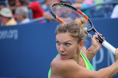 Simona Halep. Currently WTA #2,  Simona Halep during a practice session, at the 2015 US Open Stock Image