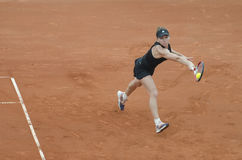 Simona Halep dans l'action Photo libre de droits