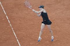 Simona Halep dans l'action Photos stock
