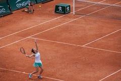 Simona Halep en Roland Garros fotos de archivo libres de regalías