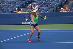 Simona Halep. During a practice session, at the 2015 US Open Royalty Free Stock Image