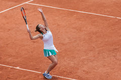 Simona Halep at Roland Garros. Simona Halep playing at the French Open - Roland Garros Stade. Paris, France Stock Images
