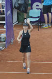 Simona Halep saluting the audience Royalty Free Stock Image