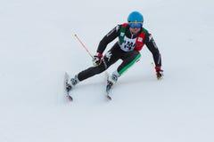 SIMONCELLI Davide (ITA). Alta Badia, ITALY 22 December 2013. SIMONCELLI Davide (ITA) competing in the Audi FIS Alpine Skiing World Cup MEN'S GIANT SLALOM Royalty Free Stock Image