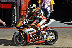 Simone corsi in the circuit of Catalonia Stock Images