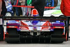 Simone Faggioli's car at Rampa da Falperra 2012 Royalty Free Stock Photos