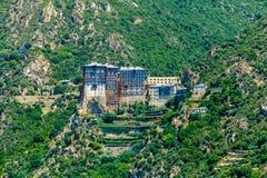 Simonopetra kloster, Mount Athos Royaltyfri Foto