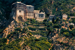 Simonos Petra monastery, Mt. Athos, Greece Royalty Free Stock Photos