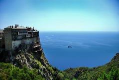 Simonos Petra Orthodox Monastery Royalty Free Stock Image