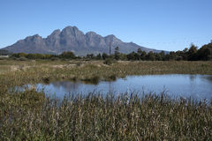 The Simonsberg Mountain in the Western Cape South Africa Stock Image