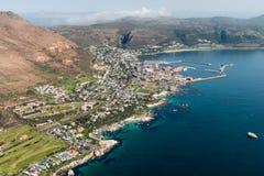 Simonstown Południowa Afryka widok z lotu ptaka Zdjęcia Royalty Free
