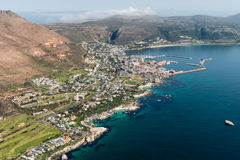 Simonstown South Africa aerial view Royalty Free Stock Photos