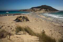 Simos海滩,埃拉福尼索斯岛,希腊 库存图片