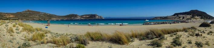 Simos海滩,埃拉福尼索斯岛,希腊 免版税库存图片