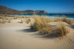 Simos海滩,埃拉福尼索斯岛,希腊 免版税库存照片